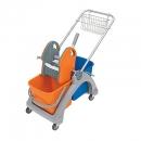 Wózek Sp. z dwoma wiad.25l i wycisk.p/n+koszyk