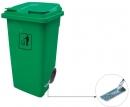 Kosz Higiena P. na odpady 120l z pedałem zielony
