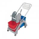 Wózek Sp. z dwoma wiad.25l i wycisk.c/n+koszyk